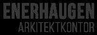 Enerhaugen Arkitektkontor liggende logo grå