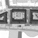 Situasjonplan Victoria terrasse. tre bygg med indre gårdsrom.